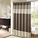 Madison Park Amherst 54-Inch x 78-Inch Shower Curtain in Natural