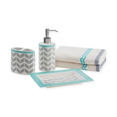 intelligent design nadia 5-piece bath accessory set | bed