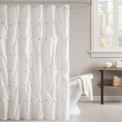 Ink Ivy Masie Shower Curtain In White Bed Bath Beyond