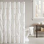 INK + IVY Masie Shower Curtain in White
