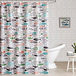 HipStyle Sardina Printed Shower Curtain