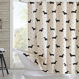 HipStyle Olivia Printed Shower Curtain in Natural