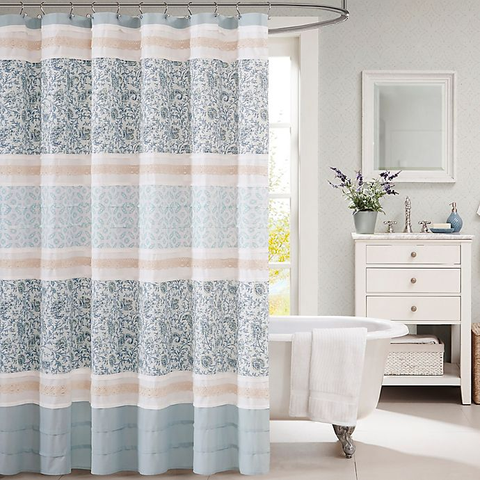 Alternate image 1 for Madison Park Dawn 72-Inch x 72-Inch Shower Curtain in Blue