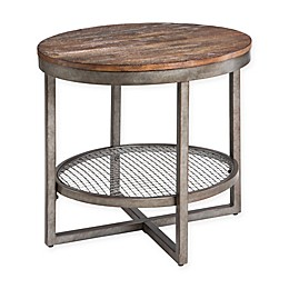 INK+IVY Sheridan End Table in Chestnut/Pewter