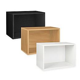 Way Basics Tool-Free Assembly Large Rectangle Storage Blox and Stackable Shelving