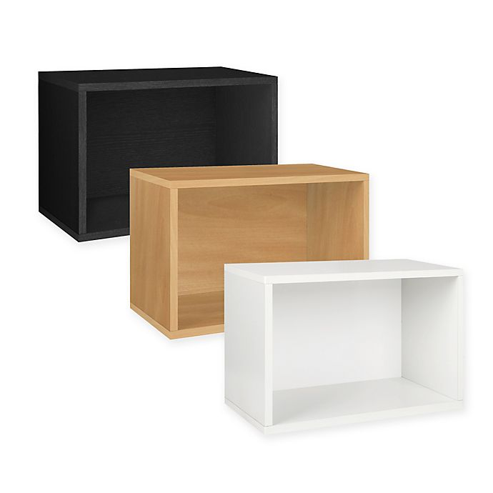 Alternate image 1 for Way Basics Tool-Free Assembly Large Rectangle Storage Blox and Stackable Shelving