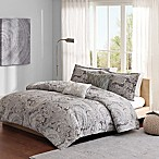 Madison Park Ronan Full/Queen Duvet Cover Set in Grey