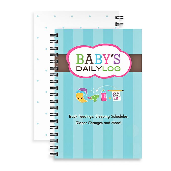 Alternate image 1 for Kahootie Co® Baby's Daily Log Notebook in Teal