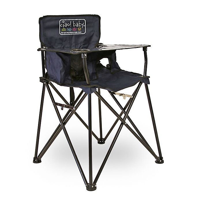Alternate image 1 for ciao! baby® Portable High Chair in Navy
