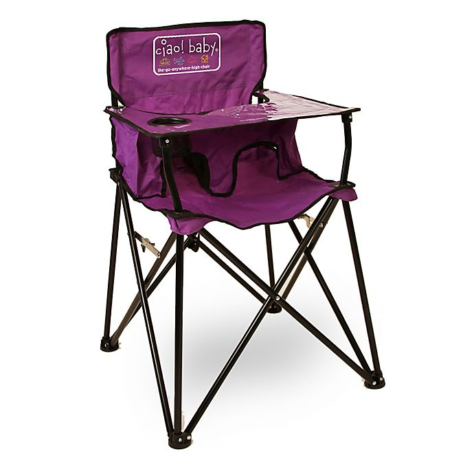 Alternate image 1 for ciao! baby™ Portable High Chair in Purple