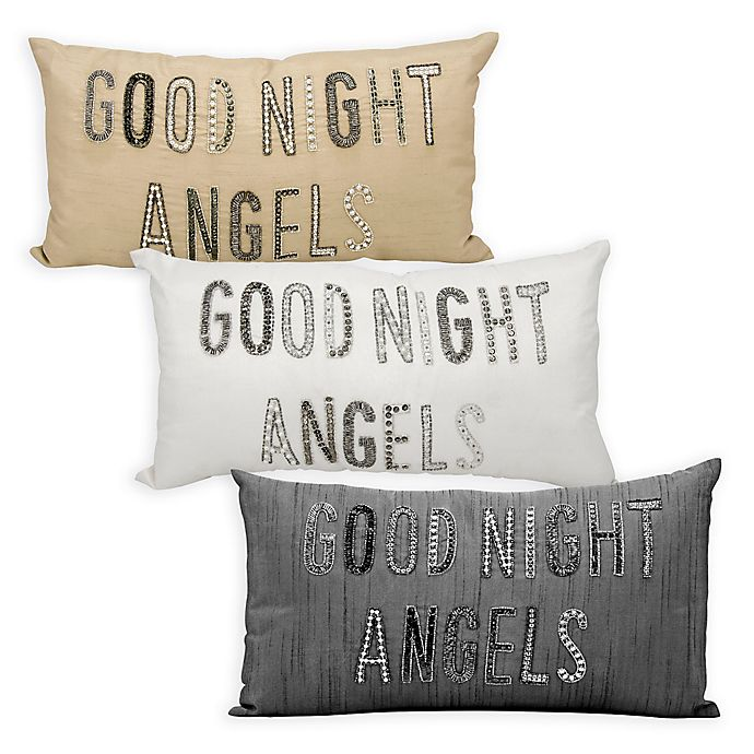 Alternate image 1 for kathy ireland Home® by Nourison Good Night Angels Oblong Throw Pillow