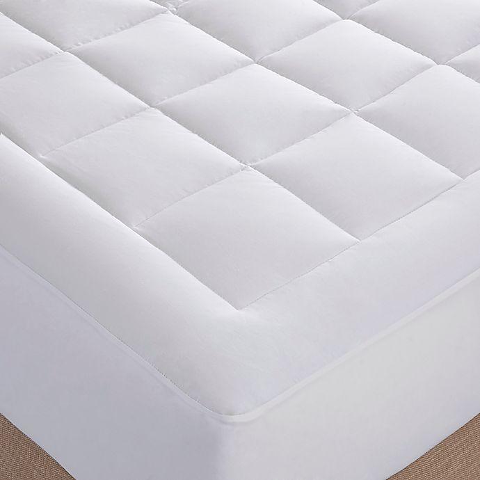 Alternate image 1 for Sleep Philosophy™ Stanton Luxury 1000-Thread-Count Cotton Mattress Pad in White
