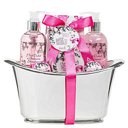 Freida & Joe Pink Orchid & Balsamic Strawberry Tub Spa Set