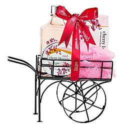 Freida and Joe Cherry Blossom Wheelbarrow Bath Spa Gift Set