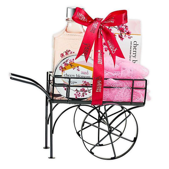 Alternate image 1 for Freida and Joe Cherry Blossom Wheelbarrow Bath Spa Gift Set