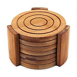 BergHOFF® Bamboo 7-Piece Coaster Set
