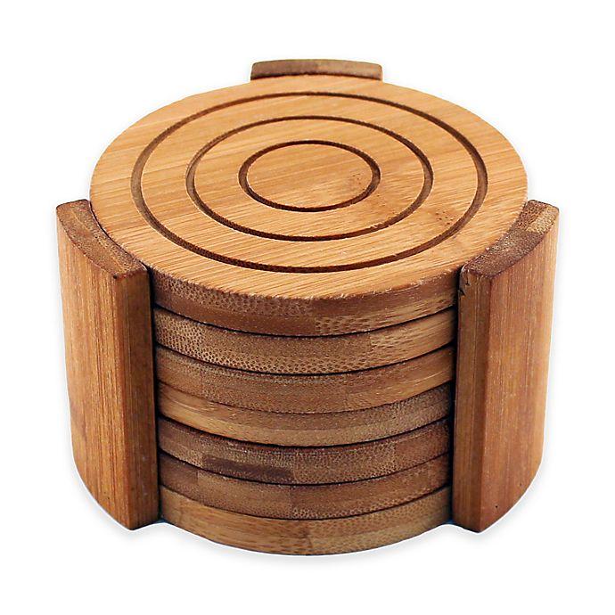 Alternate image 1 for BergHOFF® Bamboo 7-Piece Coaster Set