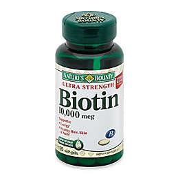 Nature's Bounty 120-Count Ultra Strength Biotin10,000 mcg Softgels