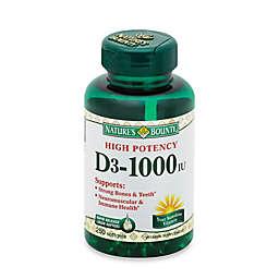 Nature's Bounty® 250-Count High Potency Vitamin D 1000 IU Softgels
