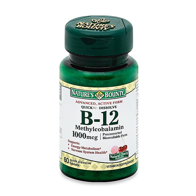 Alternate image 1 for Nature's Bounty 60-Count B-12 Methylcobalamin Quick Dissolve 1000 mcg Tablets