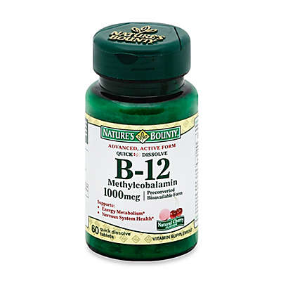 Nature's Bounty 60-Count B-12 Methylcobalamin Quick Dissolve 1000 mcg Tablets