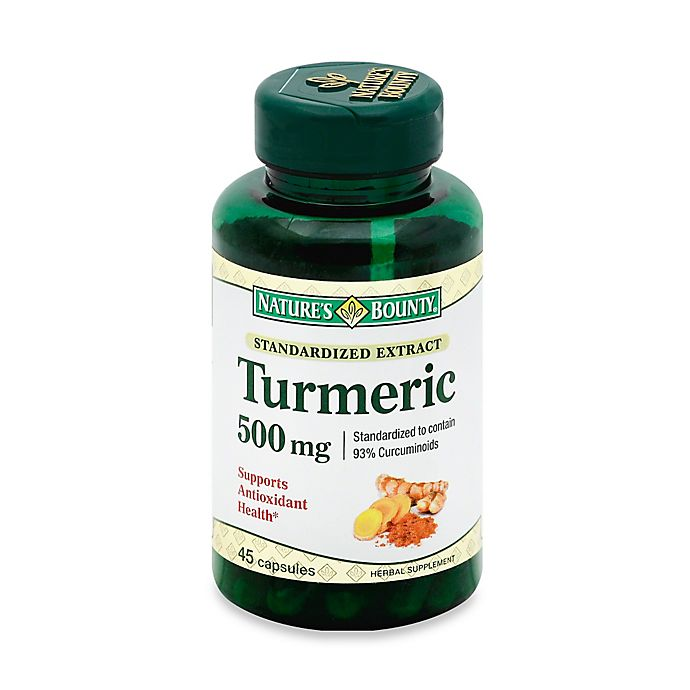 Alternate image 1 for Nature's Bounty 45-Count Turmeric Extract 500 mg Capsules