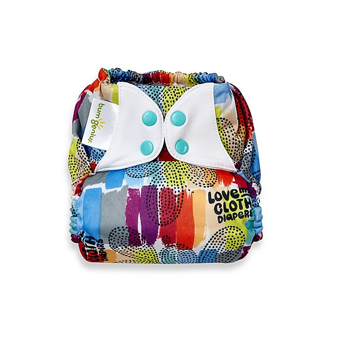 Bumgenius Freetime One Size All In One Snap Cloth Diaper In Love