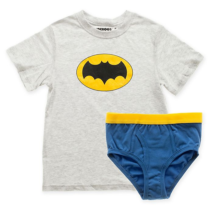 Alternate image 1 for Underoos® Size Extra Small 2-Piece Batman T-Shirt and Boxer Brief Set