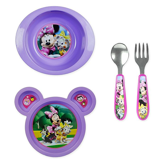 Alternate image 1 for The First Years by Tomy Minnie Mouse Clubhouse Tableware