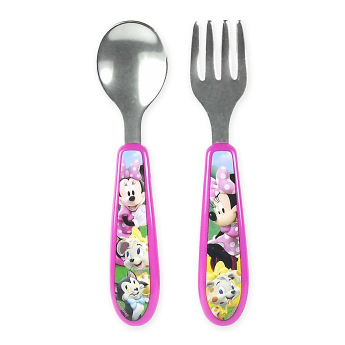 Alternate image 1 for Minnie Clubhouse Easy Grasp Flatware