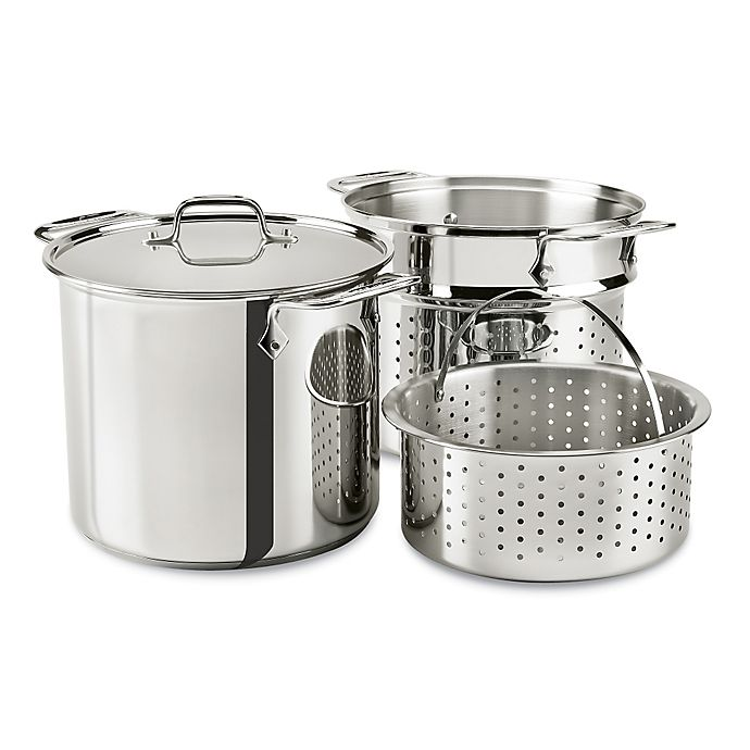 All Clad 8 Qt Stainless Steel Covered Multicooker