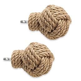 Cambria® Premier Complete Jute Knot Finials (Set of 2)