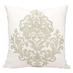 Mina Victory Beaded Damask 18-Inch Square Throw Pillow Collection