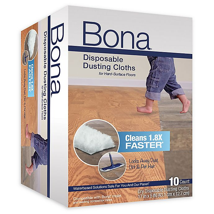 Alternate image 1 for Bona® 10-Pack Disposable Dusting Cloths in Blue