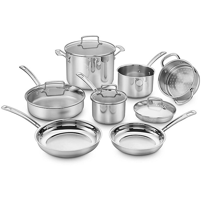 Alternate image 1 for Cuisinart® Chef's Classic Pro 11-Piece Cookware Set in Stainless Steel