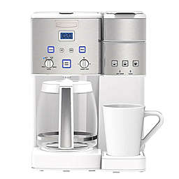 Cuisinart® Coffee Center ™ 12-Cup Coffee Maker and Single Serve Brewer in White