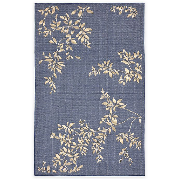Alternate image 1 for Liora Manne 1-Foot 11-Inch x 7-Foot 6-Inch Terrace Vine Rug in Blue