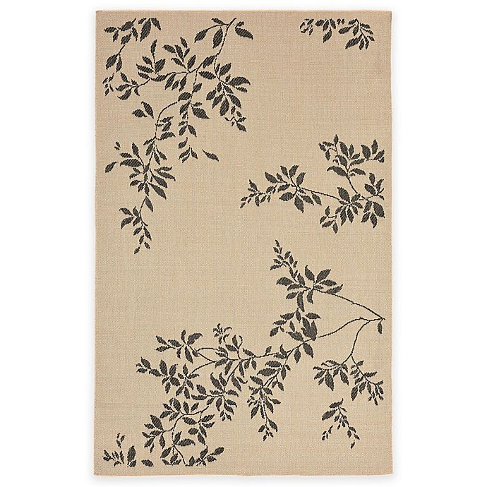 Alternate image 1 for Liora Manne 4-Foot 10-Inch x 7-Foot 6-Inch Terrace Vine Rug in Neutral