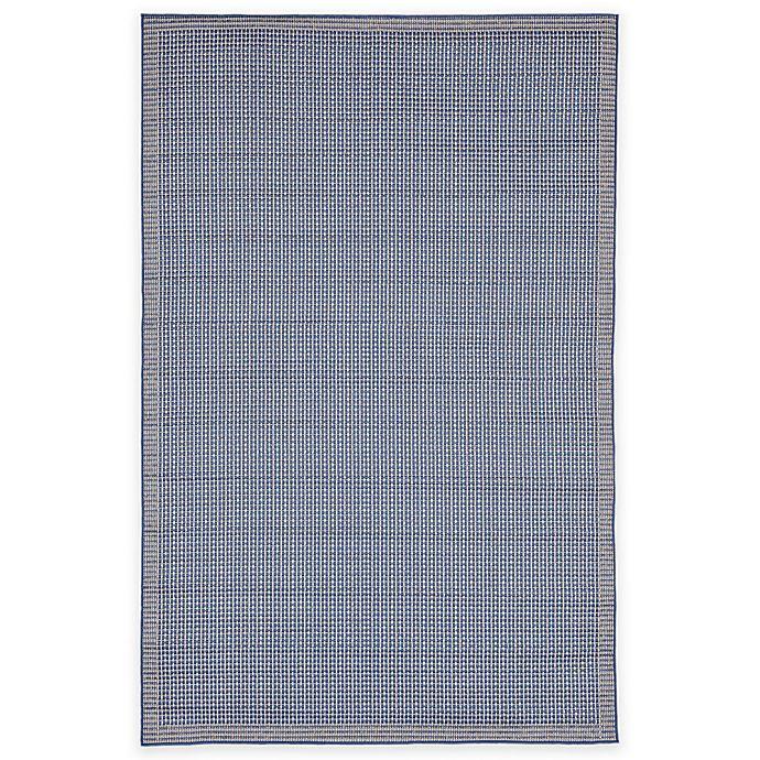 Alternate image 1 for Liora Manne Terrace Texture 1-Foot 11-Inch x 7-Foot 6-Inch Indoor/Outdoor Runner in Blue