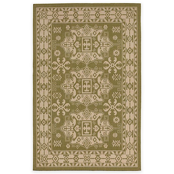 Alternate image 1 for Liora Manne Kilim 7-Foot 10-Inch x 7-Foot 10-Inch Indoor/Outdoor Area Rug in Green