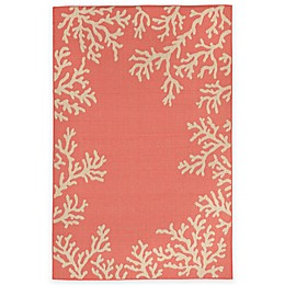 Liora Manne Terrace Coral Border Indoor/Outdoor Rug