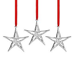 Nambe Mini Star Christmas Ornaments (Set of 3)