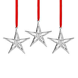 Nambe Mini Star Christmas Ornaments (Set of 3)