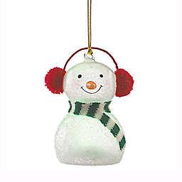 Lenox® Wonderball Snowman Red Knit Muffs Ornament