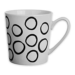 Formations Flare Circle Print Mug in Black/White