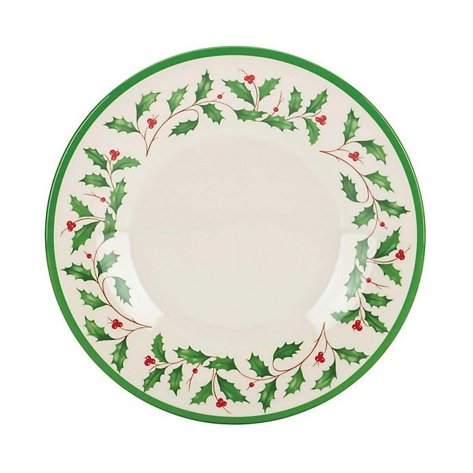 Lenox® Holiday Melamine Accent Plates (Set of 4) | Bed ...