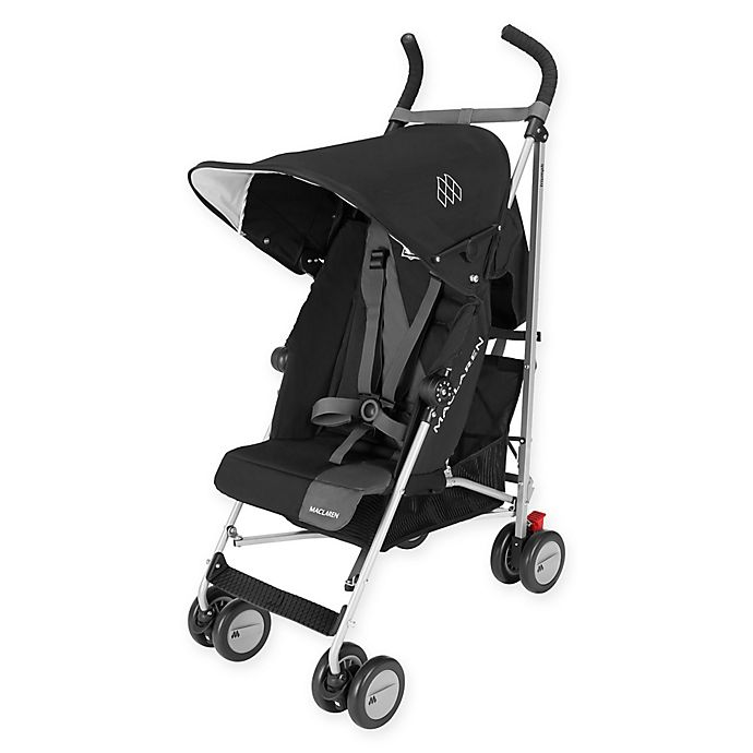 Alternate image 1 for Maclaren® Triumph Stroller in Black/Charcoal