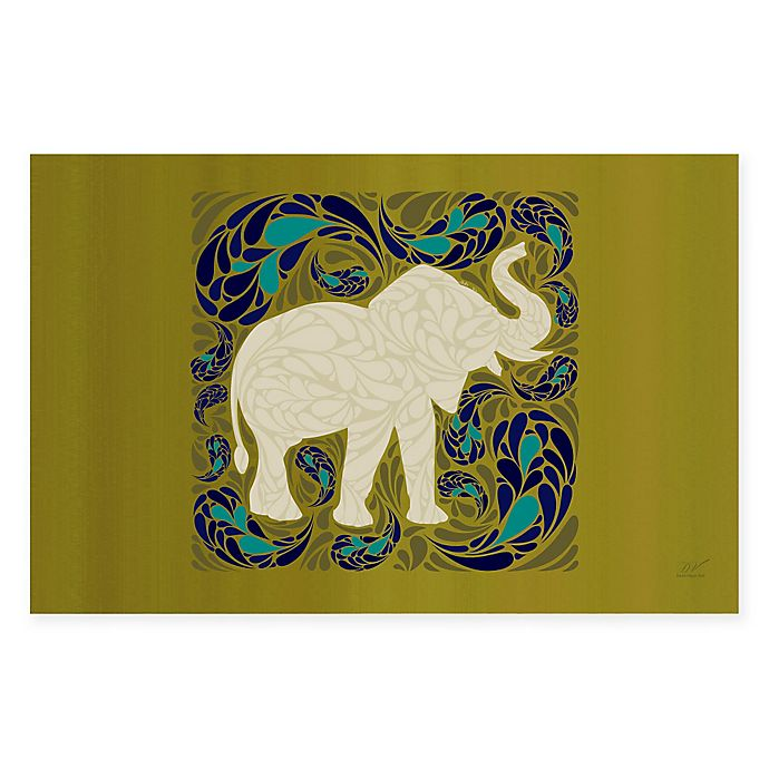 Alternate image 1 for The Softer Side by Weather Guard™ 18-Inch x 27-Inch Elephant Kitchen Mat in Green