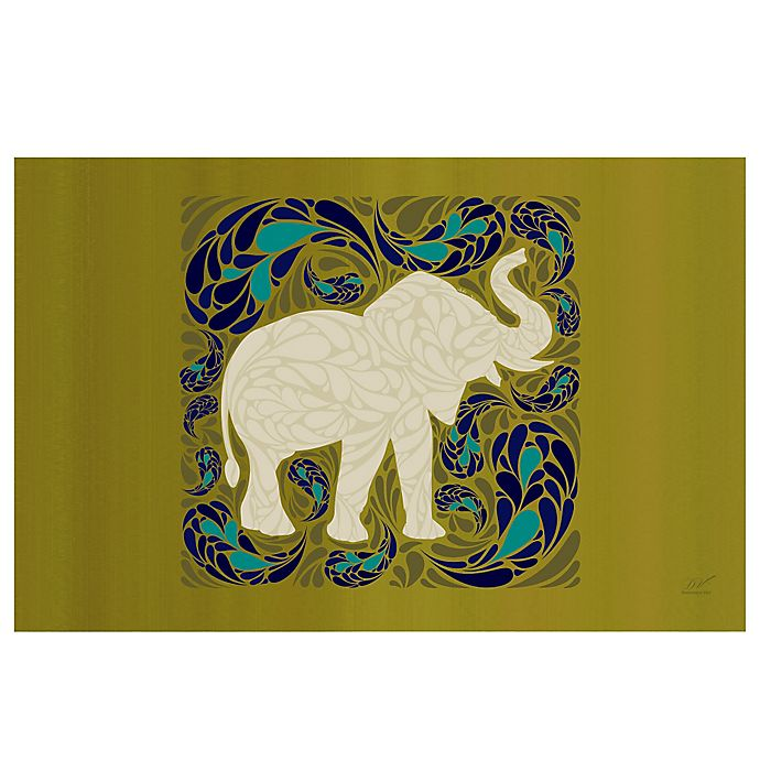 Alternate image 1 for The Softer Side by Weather Guard™ 23-Inch x 36-Inch Elephant Kitchen Mat in Green