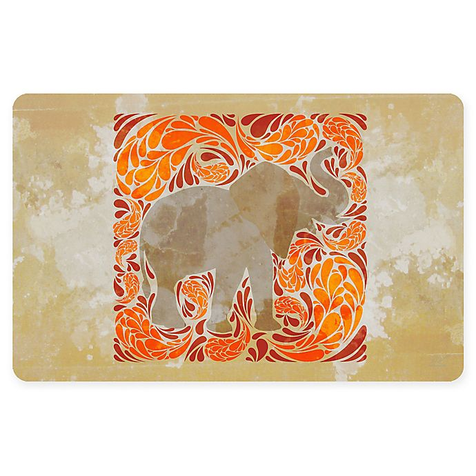 Alternate image 1 for The Softer Side by Weather Guard™ 18-Inch x 27-Inch Elephant Kitchen Mat in Orange